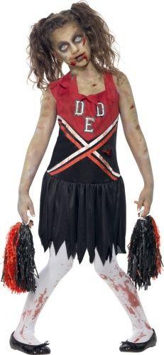 Disfraz zombi animadora niña Halloween