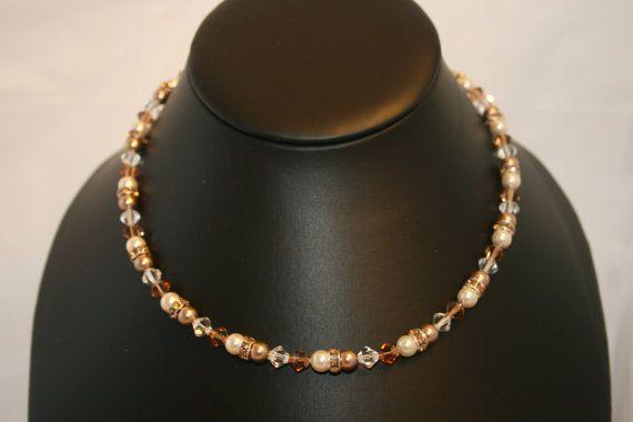 Handmade 'Neck Candy' Swarovski Pearl and by LHadyoonJewellery, £26.00