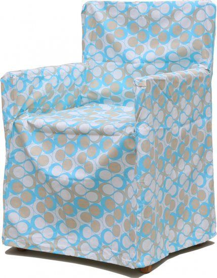 Neea Light Blue Chair Cover