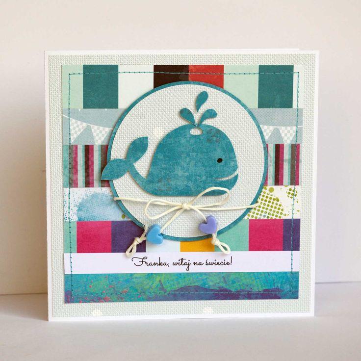 #wieloryb #kartka #birthdaycard #papercard #papercrafts #craft #handmadecard #handmade  #scrapbooking #scrapbookingcards #rekodzielo