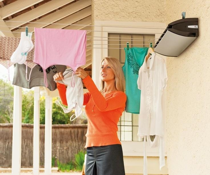 Hills extenda 6 retractable washing line steel wool scrubber
