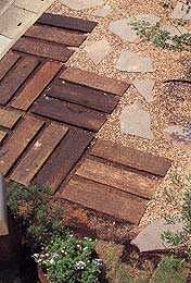 Australian railway sleeper landscaping 6