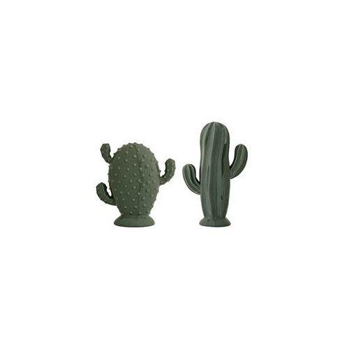 Ceramic Cactus Statue Set