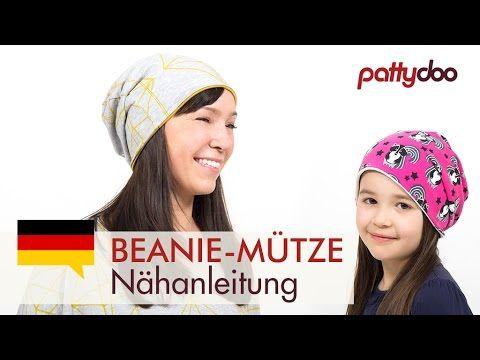 DIY Mütze nähen für Anfänger - Wendemütze, Beanie aus Jersey für Erwachsene und Kinder - kostenloses Schnittmuster von pattydoo