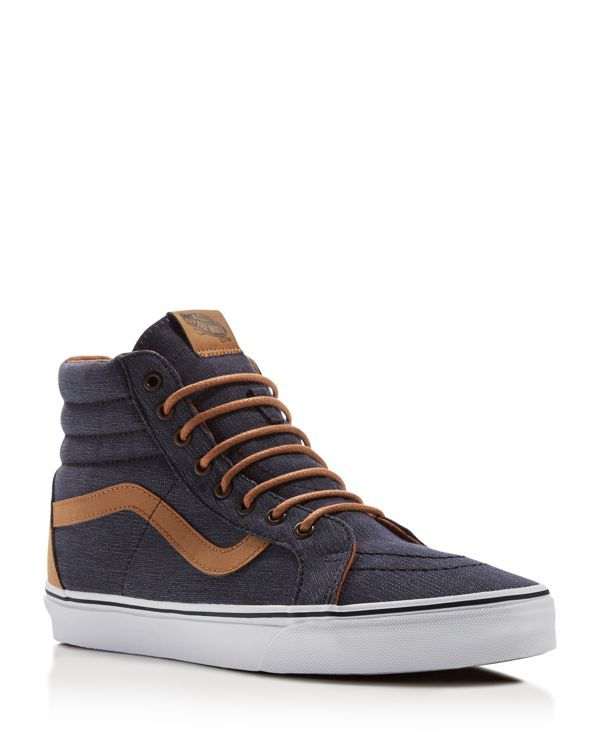 vans sk8 high top plaid navy reissue