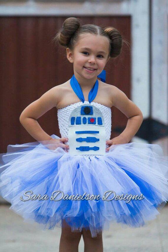 Star Wars R2D2 tutu // R2D2 tutu dress // R2D2 tutu costume // R2D2 Halloween costume // Star wars costume // Darth Vader