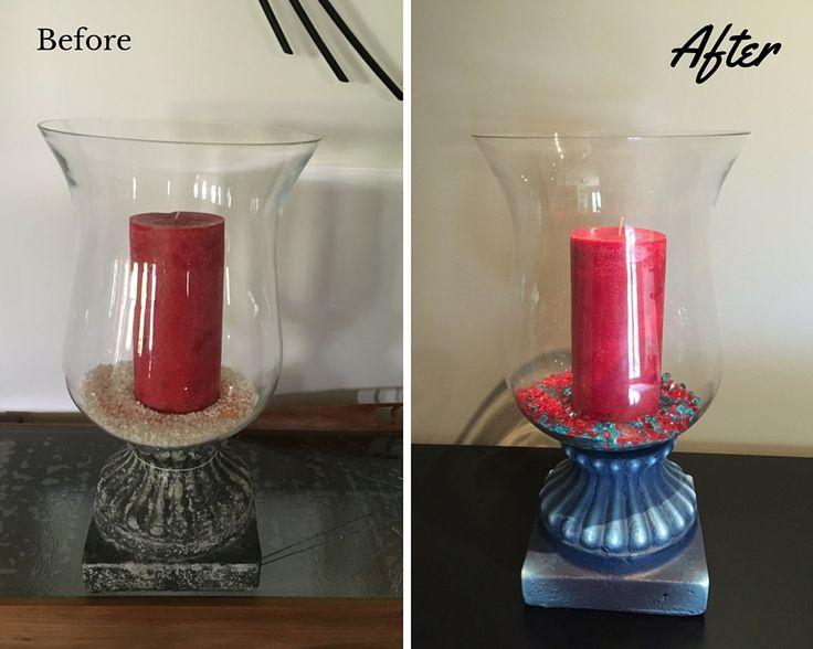 Large Hurricane Personalised candle holder