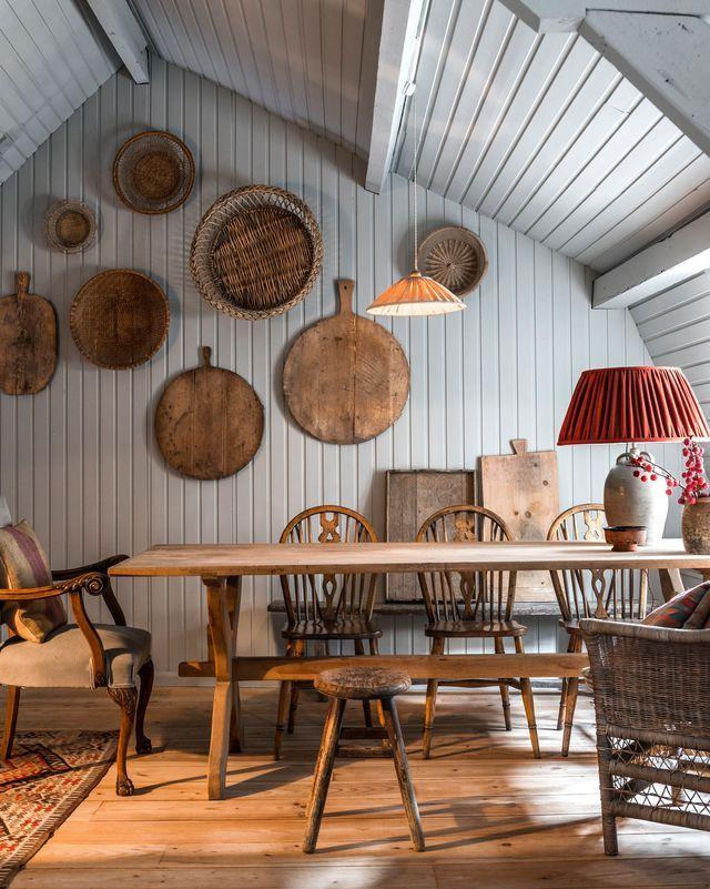 Maison bois des intérieurs en bois chaleureux et originaux