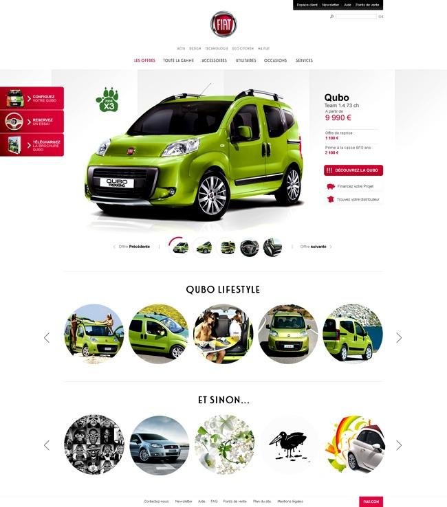Fiat / Julien Bailly / #green #fiat #car #clean #webdesign