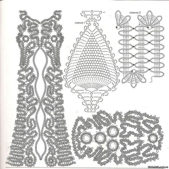 muçambê artesanato: Vestido Crochê Renda de Bruges!!! Maravilhoso. * vestito intero realizzato in pizzo di bruges con schema *