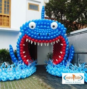 ¿Entrarías por la boca del tiburón? ¡Esta vez sí! #globoflexia #globos #tienda