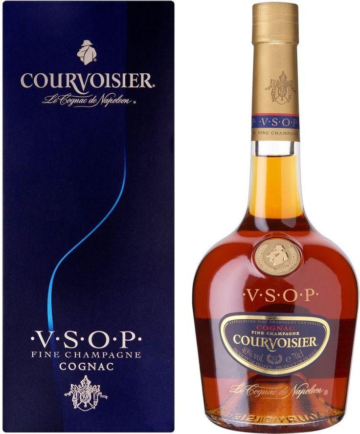 Criado a partir de uvas selecionadas das duas das melhores e mais exclusivas regiões de Cognac.Por isso, o Cognac Courvoisier VSOP é exclusivamente artesanal de qualidade superior.Oferece um excelente equilíbrio, delicado, buquê de carvalho e de sabores exóticos.O aroma é sutil e harmonioso, com notas de baunilha e amêndoa e acabamento agradável- Volume: 700 ml- Graduação Alcoólica (%): 40% vol.- País de Origem: França
