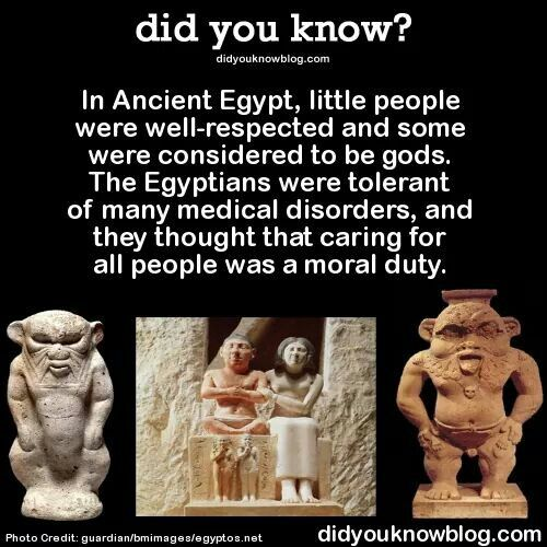 Little People in Ancient Egypt