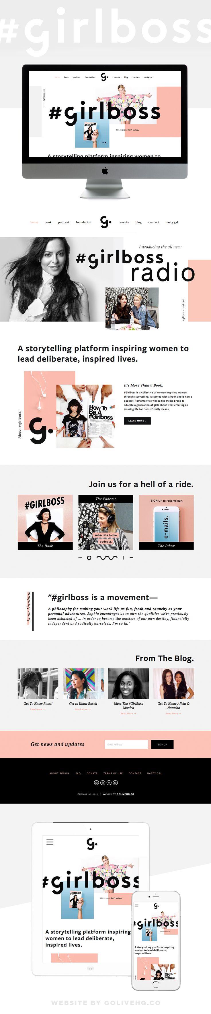modern website design for girlboss.com  |  by golivehq.co