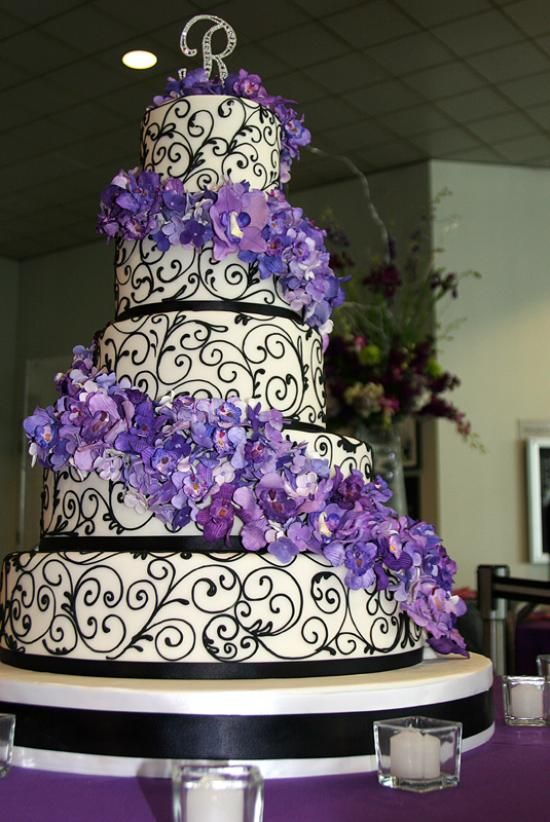 wedding cakes ideas purple 333 best cake 3 black white with splash of color images 24536