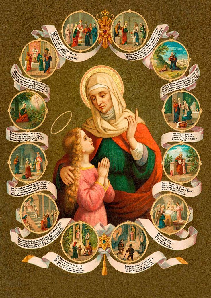 St. Anne, madre de mi Madre del cielo!