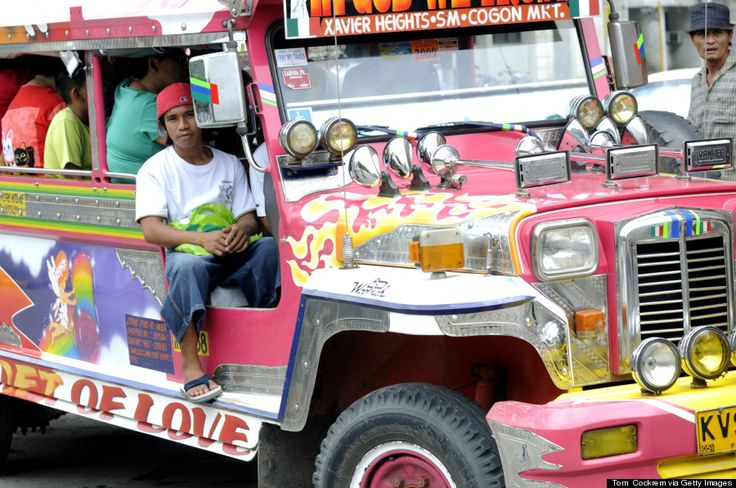 you haven't been to the Philippines if you haven't experienced the Pinoy Jeepney. (Xavier Heights represent! :D)