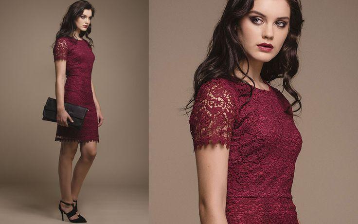 http://www.iclothing.com/ida-full-lace-dress-in-burgundy-46708 #iclothing #AW14 #AutumnFashion #AutumnStyle