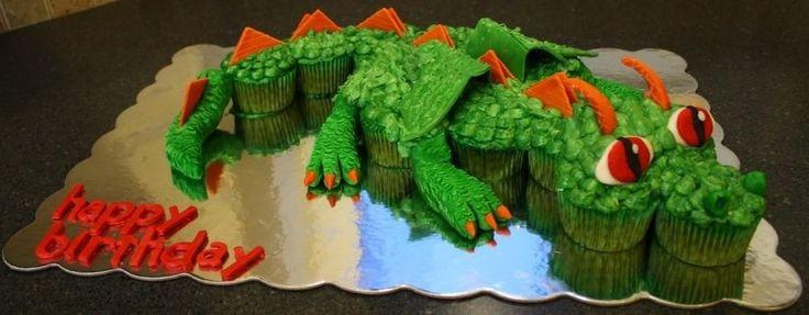 Dragon pull apart cupcake cake