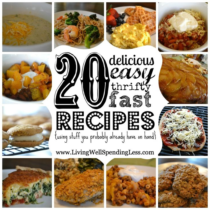 20 Delicious Easy Thrifty Recipes {using ingredients you probably already have on hand}  Great collection of yummy recipes using everyday pantry ingredients!