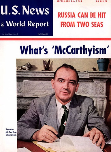 an analysis of second red scare by senator joseph mccarthy Joseph mccarthy (1908-1957) was a united states senator from wisconsin whose aggressive anticommunist pursuits after 1950 made him the namesake for mccarthyism in 1950, mccarthy created a national sensation by claiming to have a list of 205 names of known communists inside the state department.