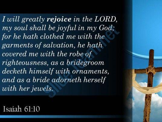 isaiah 61 10 soul rejoices in my god powerpoint church sermon Slide05  http://www.slideteam.net/