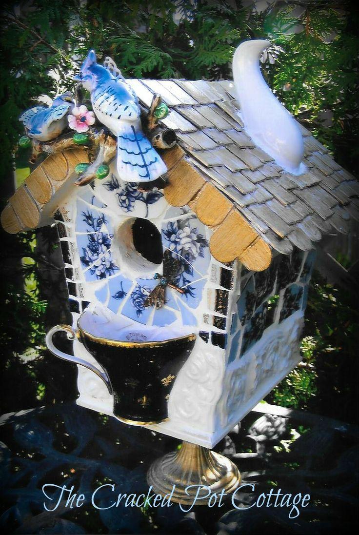 Blue Jay Cottage Mosaic Birdhouse Treasures I Have Sold