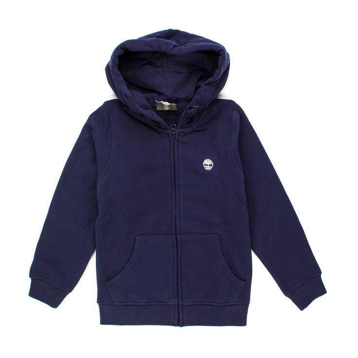Timberland - Felpa Blu Navy Jr E Teen - Classica felpa blu navy con zip e cappuccio firmata Timberland Jr della nuova Collezione Primavera Estate 2018 - Linea di #abbigliamento #Bambino e #Teenager #Timberland #shopping #onlineshopping #style #felpa #ragazzo #annameglio #moda #fashion