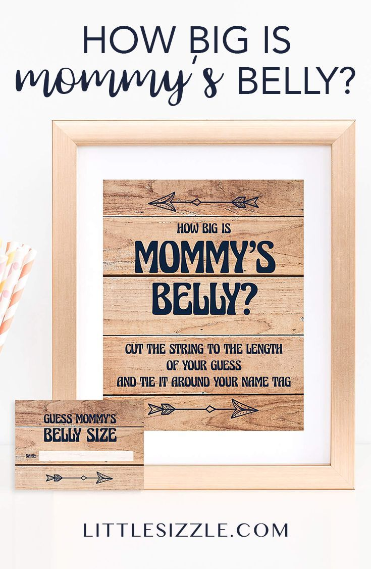Rustic Baby Shower Game How Big Is Mommy S Belly In 2018 Baby