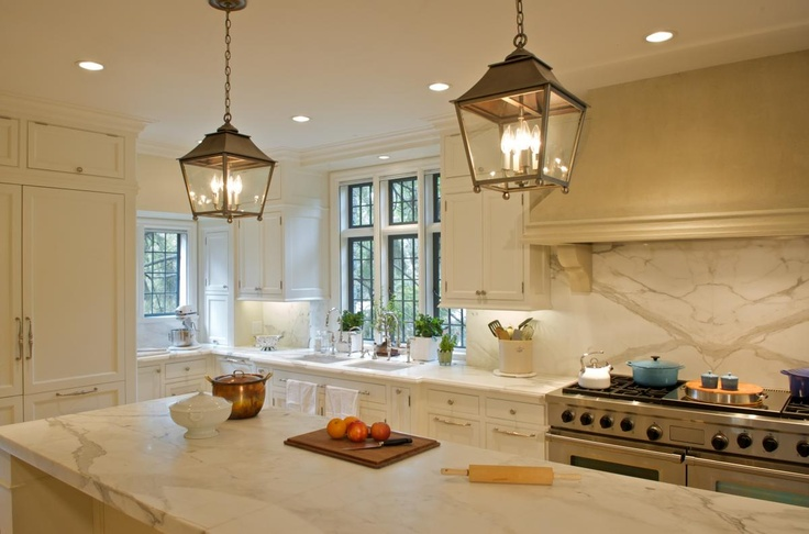 Tudor Transformation (Cultivate.com); light fixtures, light & bright kitchen