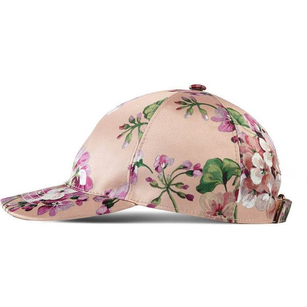 Gucci Blooms Silk Baseball Hat ($305) ❤ liked on Polyvore featuring accessories, hats, purple, women, ball cap, gucci hat, silk hat, floral baseball hats and purple baseball cap