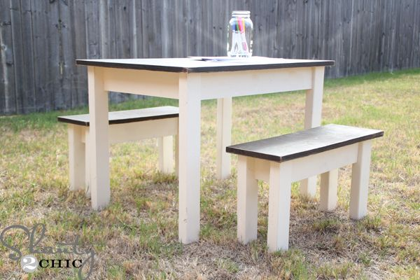 Diy Kids table and benches!