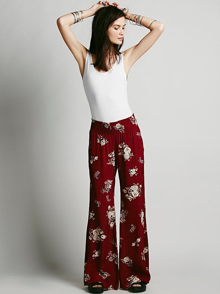 Free People FP ONE Floral Hippie Pant, $98.00