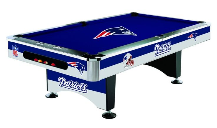 New England Patriots Licensed Billiards Table with Team Logo Cloth from Imperial International