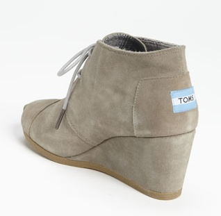grey canvas toms wedges