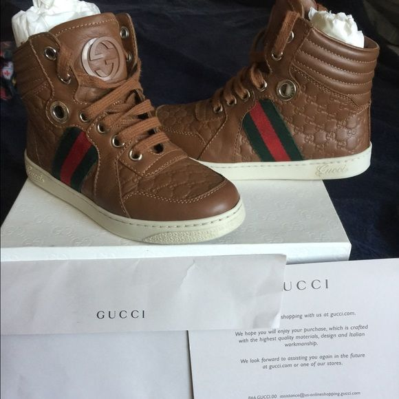 Toddler Gucci Children's Gucci USED JUST ONCE. Purchased in December when used in February he says he can't move his toe paid $229 plus tax. Euro 29  /12 Gucci Shoes