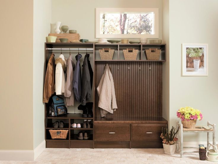 This Type Of Mudroom Storage Gives You Quick Retrieval Of Coats And Bags As  You Head