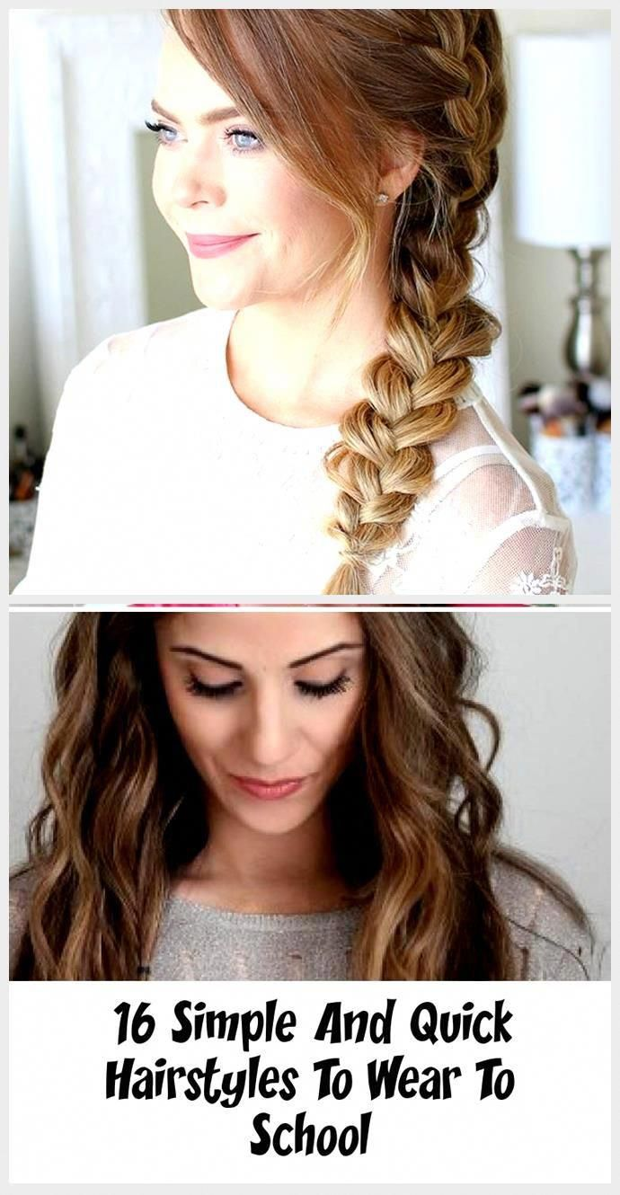 40 Quick And Easy Back To School Hairstyle For Long Hair New Best Hairstyle Easy Hair H In 2020 Back To School Hairstyles Hairstyles For School Long Hair Styles