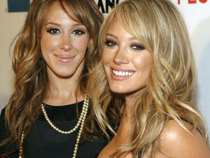 hilary and haylie duff - love the make-up and hair colours