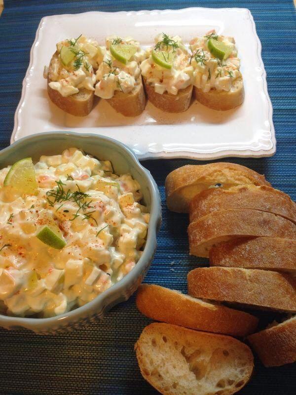 Las recetas de Martuka: Ensalada De Cangrejo, Manzana Y Cebolleta Con Mayonesa De Yogur