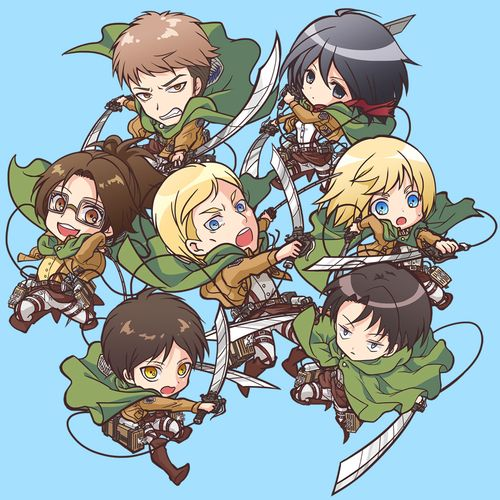Image result for all chibi snk characters