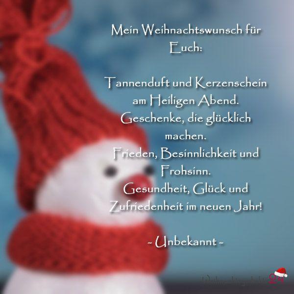 Weihnachtsgrüße für Weihnachtswünsche