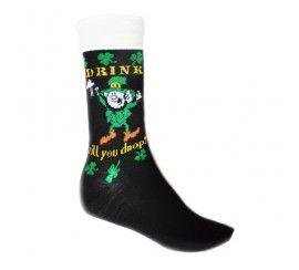 Drink Till You Drop Black Drinking Socks