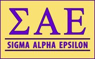 Sigma Alpha Epsilon Custom Line Sticker Decal
