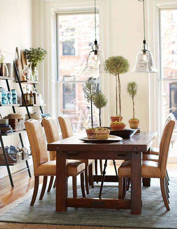 Design trend artisanal vintage a collection of ideas to for Pottery barn dining room ideas