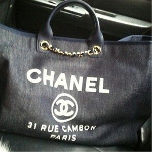 Chanel shopping bag: Deauville tote