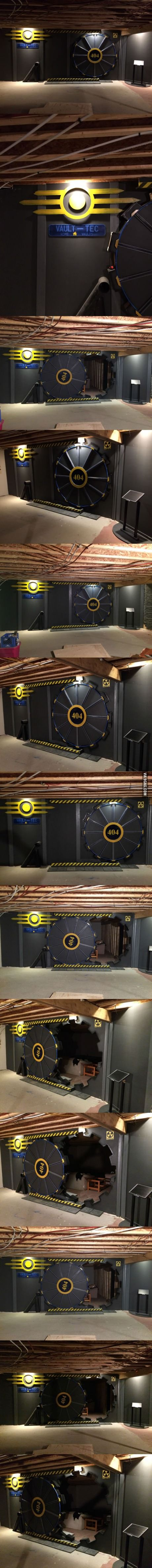 This vault-tec themed door for the game room...
