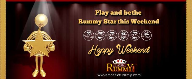 TGIF! The ‪weekend‬ ‪fun‬ just begins with the ‪game‬ of ‪cards‬!  Just login and start ‪‎winning‬. Enjoy this week by ‪playing‬ ‪rummy‬ at ‪Classicrummy‬.    https://www.classicrummy.com/?link_name=CR-12