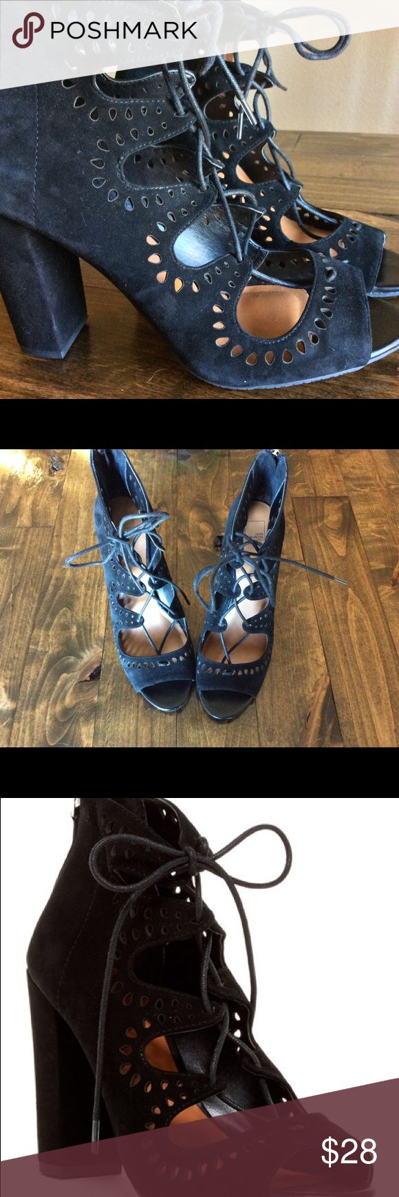 14th & Union Cecily Laser Cut Sandal - Size 9 This is a steal! Only worn twice and selling for less than half price. Sold out at Nordstrom, get yours here - like new! 14th & Union Shoes Heels