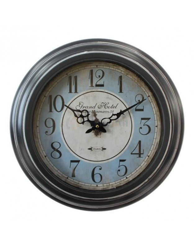 "Metallic Wall Clock  ""GRAND HOTEL"" 43 CM"